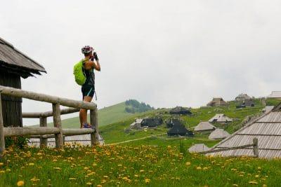 Bike tour Velika planina the shepherds huts