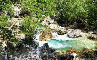 turquoise Soča river