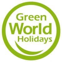Green world holidays logotype