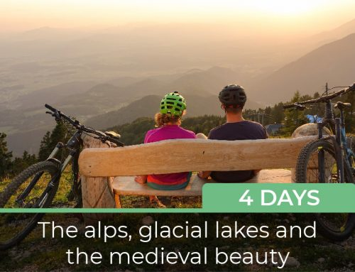The alps, glacial lakes and the medieval beauty