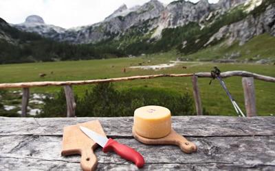 Slovenian Alps bike tour local food