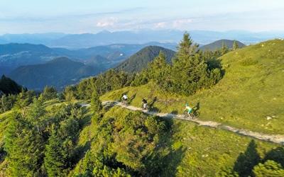Slovenian Alps bike tour view to Krn