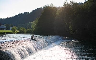 Slovenian Alps bike tour visoko manor river Sora
