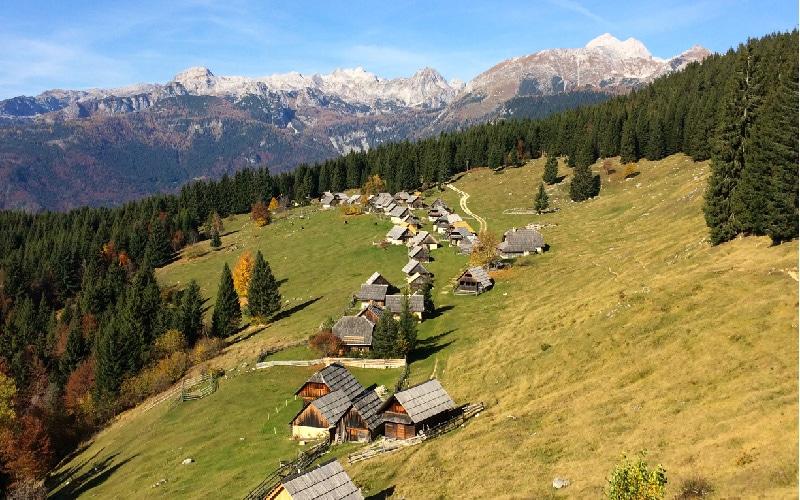 Beautiful Zajamniki from bike tour Bled