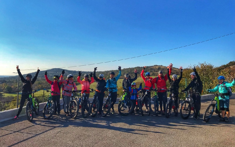 Slovenian e-bike holidays - a group exploring Kras region