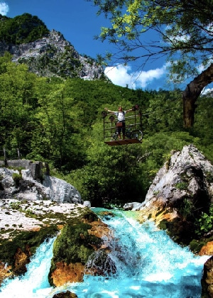 Slovenian e-bike holidays above Soča river