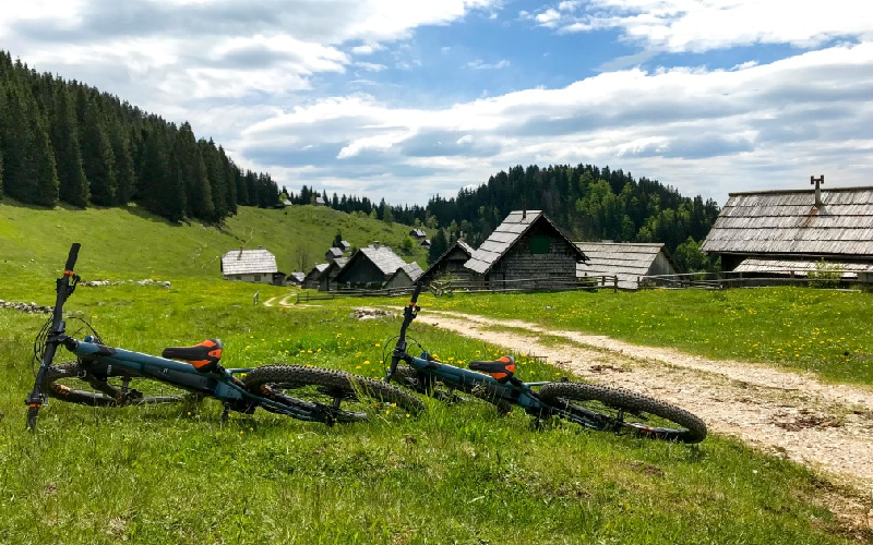 two ebikes at Slovenia pokljuka