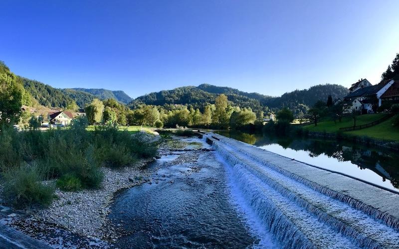 Twin rivers of Skofja Loka